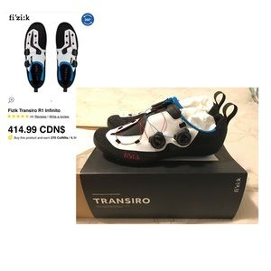 Fizik Transiro Infinito R1 Knit, Men's Size 7